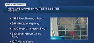 New CVS drive-thru testing sites