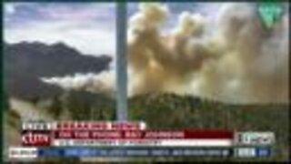 Mahogany Fire growing on Mount Charleston