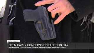 Open carry concerns on Election Day in Michigan