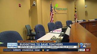Harford County budgeting to keep teachers