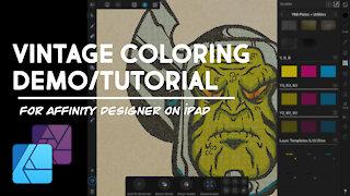 Vintage Coloring Demo - Affinity Designer