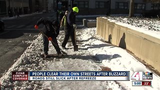 KCMO continues to dig out from blizzard