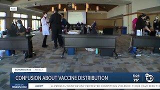 Confusion about COVID-19 vaccine distribution