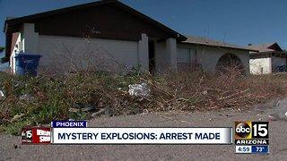 Phoenix police make arrest in neighborhood explosions investigation