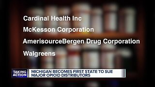 Michigan sues major drug distributors for opioid crisis