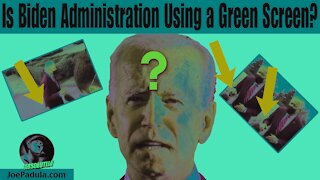 Is the Joe Biden Administration Using a Green Screen for this media interview?