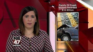 Family of crash victims awarded $10 million