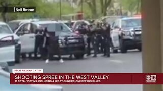 1 killed in shooting spree in the West Valley, 3 others shot, 9 more injured