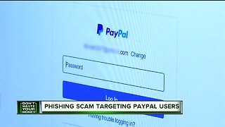 Phishing scam targeting PayPal users