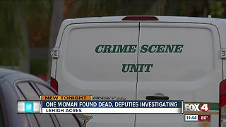 One woman found dead, deputies investigating