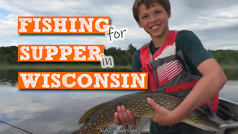 S2:E17 Fishing for Supper in Wisconsin | Kids Outdoors