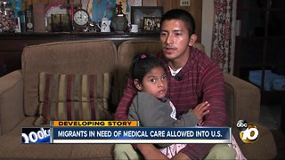 Caravan family needing medical care allowed in U.S.