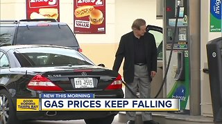 Gas prices dropping across the country