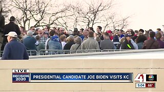Presidential candidate Joe Biden visits KC