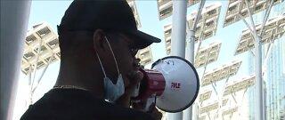 Protestors rally against several members of Las Vegas City Council