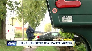 Buffalo letter carriers create paw print warning signs