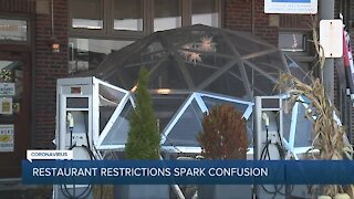 Restaurant restrictions spark confusion in Michigan