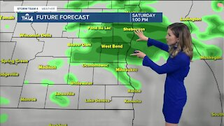 Showers and a chance for a few thunderstorms Saturday