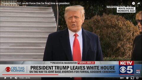 Trump Reverse Speech- Farewell-Inauguration Day- Next Phase