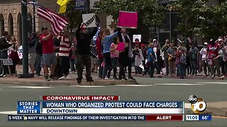 Woman who organized downtown protest could face charges