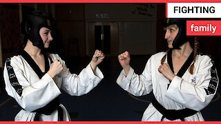 A mother and daughter have both won gold in Taekwondo