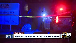 Protest held over deadly Glendale officer-involved shooting