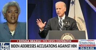 Donna Brazile defends Creepy Joe Biden against groping allegations