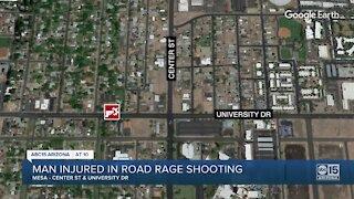 Man injured in road rage shooting in Mesa