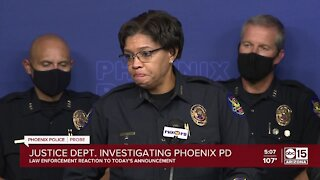 City leaders and law enforcement react to Phoenix PD DOJ investigation