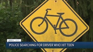 14-year-old boy struck by car while riding bicycle in Kent; hit-skip investigation underway
