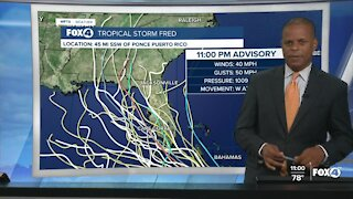 Tropical Storm Fred forms