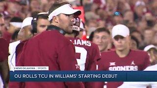 Caleb Williams shines in starting debut