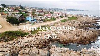 Las Conchitas beach in Chile