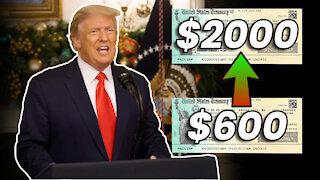 Trump BLOCKS Stimulus Bill, Demands $2000 STIMULUS CHECKS