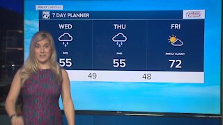 Today's Forecast: Cloudy and cool with rain mostly south and east of GR