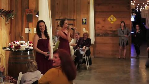 Maids of honor sing Justin Bieber parody toast