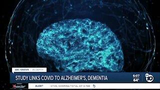 Study links COVID to Alzheimer's, dementia