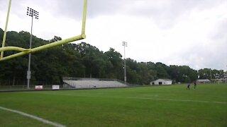 Mason varsity football team has a female kicker this year