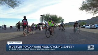 Ride held for road awareness, cycling safety