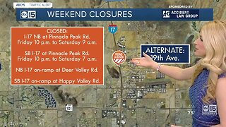 Weekend construction: 5 freeway closures to know about