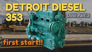 Detroit Diesel 3-53 First Start! [Dynahoe 160 Part 3]