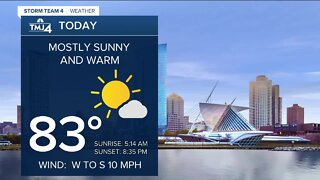 Beautiful summer day; mostly sunny and warm in southeast Wisconsin