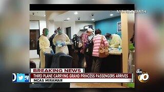 Third plane carrying Grand Princess passengers arrives at MCAS Miramar
