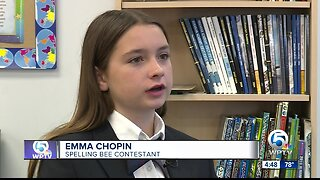 Emma Chopin of Rosarian Academy competing in Scripps National Spelling Bee