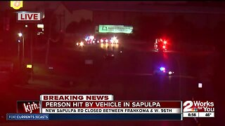 Person hit and killed by vehicle in Sapulpa