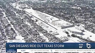 San Diegans ride out Texas storm