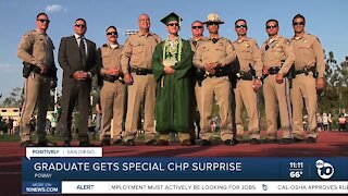 Poway High graduate gets special surprise from CHP