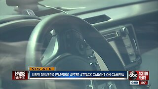 Video captures Florida Uber driver attacked after passenger wouldn't put seat belt back on