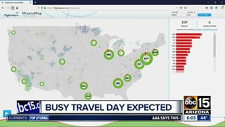 Busy holiday travel expected Thursday across the country