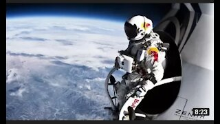 Record breaking space jump - free fall faster than speed of sound